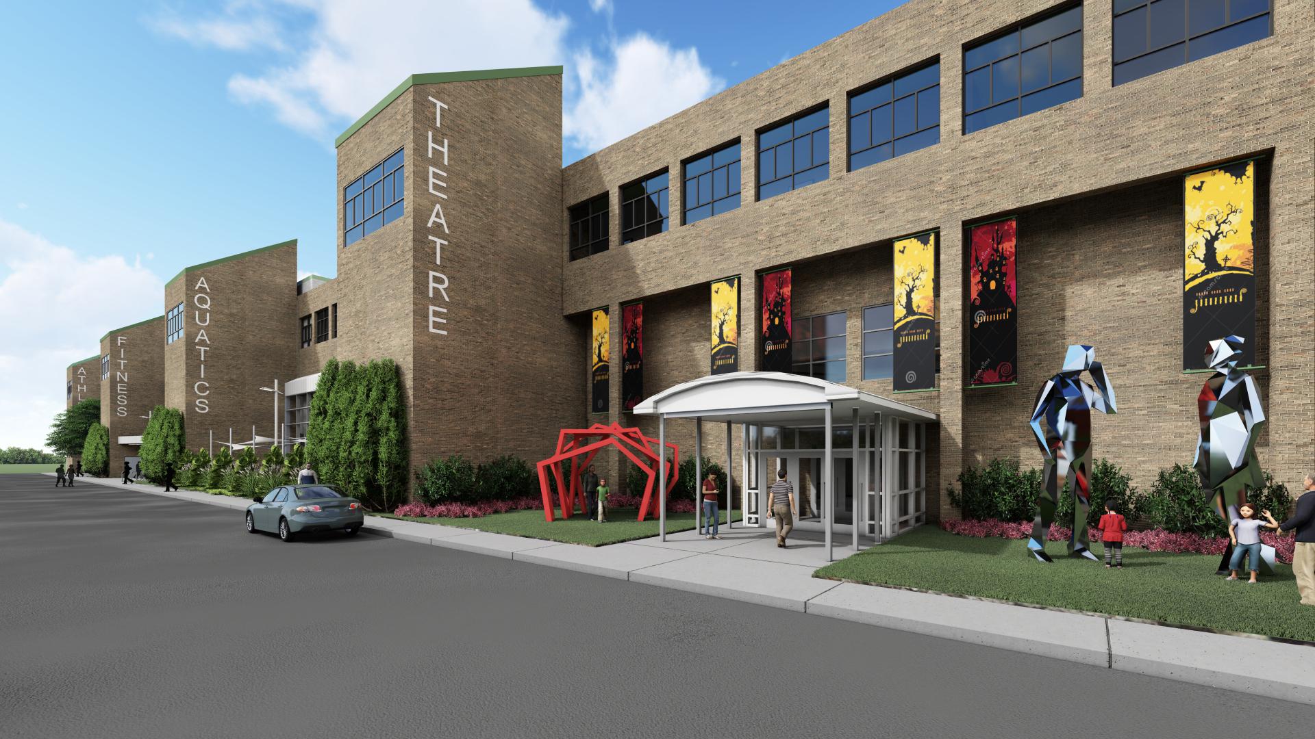 Farmington Hills Comm. Center_Theatre Entrance